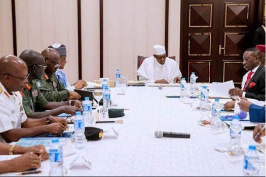 President Buhari held closed door meeting with service
